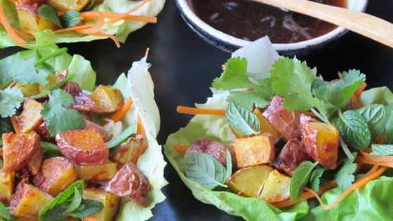 Photo of Thai Lettuce Cups with Red Curry Potatoes by Potato Goodness