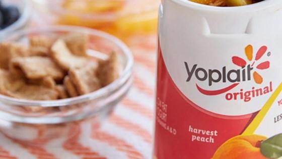 Photo of Cinnamon Peach Crunch Yogurt Cup by Yoplait