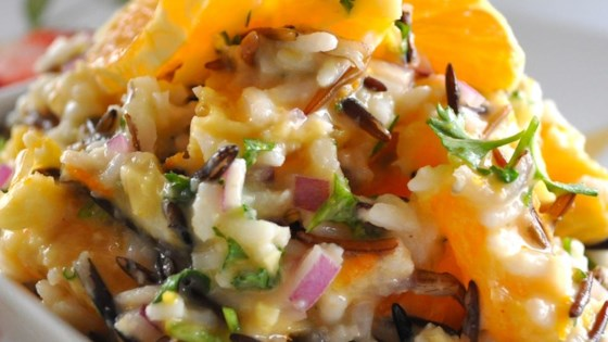Photo of Wild Rice and Orange Salad with Creamy Orange-Ginger Dressing and Toasted Pecans by Hellmann's® or Best Foods® Real Mayonnaise
