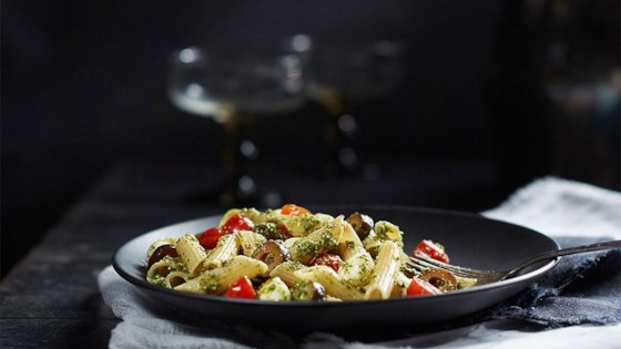 Photo of Penne Pesto Pasta Salad by truRoots®