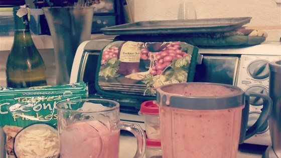 Photo of Healthy Strawberry Apriplum Yogurt Smoothie by Nicole Guarnera