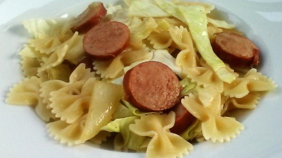 Photo of Cabbage and Smoked Sausage Pasta by Sami