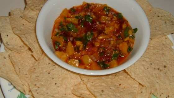 Photo of Chipotle Peach Salsa with Cilantro by OOMPAH