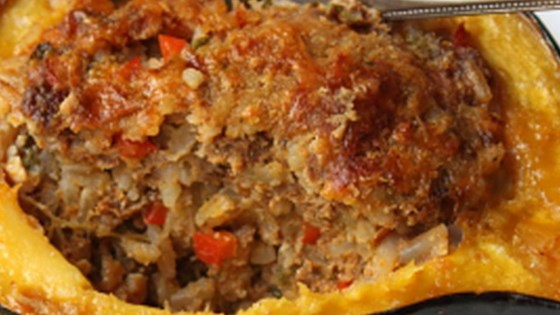 Photo of Sausage and Rice Stuffed Acorn Squash by Chef John