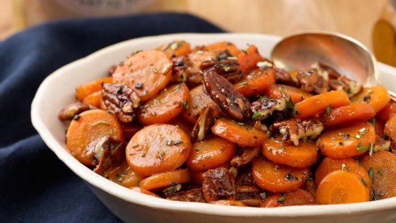 Photo of Glazed Carrots with Spicy Pecans by Iron Chef Donatella Arpaia