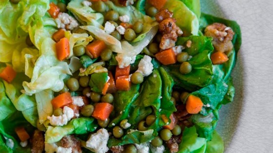Photo of Peas, Carrots & Candied Walnut Salad by Iron Chef Donatella Arpaia