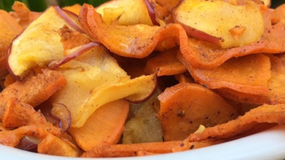 Photo of Spiralized Roasted Vanilla Sweet Potatoes and Apples by Arizona Desert Flower