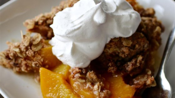 Photo of Mom's Peach Crisp by Stephanie