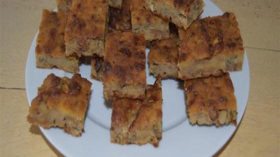 Savory Stilton and Walnut Bread Pudding
