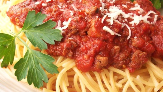 Photo of Meat-Lover's Slow Cooker Spaghetti Sauce by Ashley