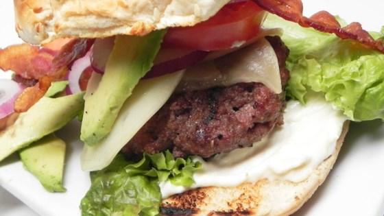 Photo of Jumbo Bacon Avocado Horseradish Cheeseburgers by ChefCookie
