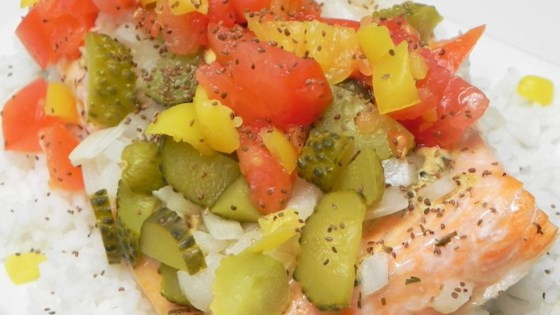 Photo of Chicago Hot Dog-Style Salmon by CARMOMOF4
