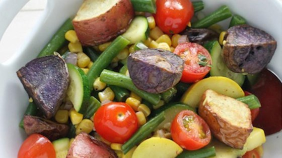 Photo of Rainbow Roasted Potato Salad by Potato Goodness