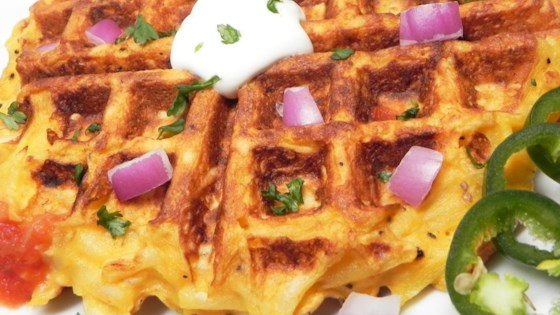 Photo of Kitchen Sink Hash Brown and Egg Waffle by weedak