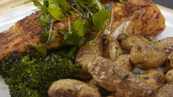 Photo of Jacob's Grilled Cajun Salmon with Roasted Fingerling Potatoes by Jacob Welshans