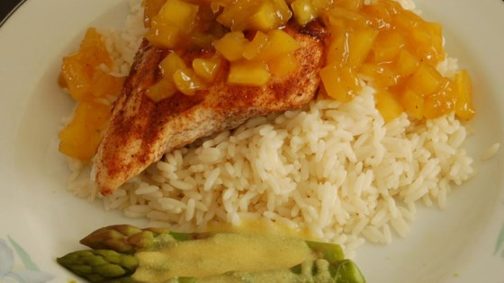 Photo of Grilled Spiced Chicken with Caribbean Citrus-Mango Sauce by LINDA W.