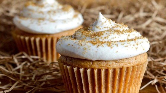 Photo of Spiced Cupcakes with Cinnamon Cream Cheese Frosting by Musselman's® Apple Butter