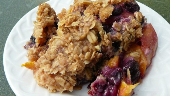 Photo of Blueberry and Peach Crisp by Meg&Mom