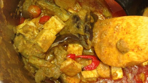 Photo of Thai Panang Curry with Baby Eggplants and Tofu by Pink Manta