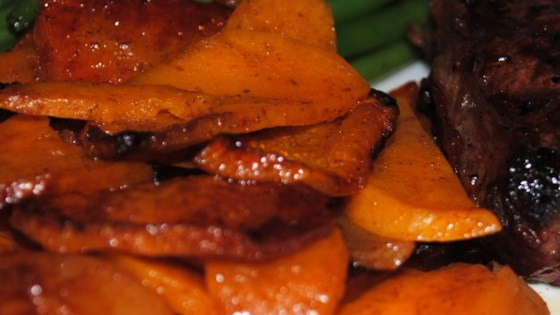 Grilled Sweet Potatoes with Apples Recipe