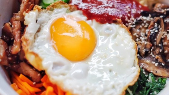 Bibimbap (Korean Rice With Mixed Vegetables) Recipe