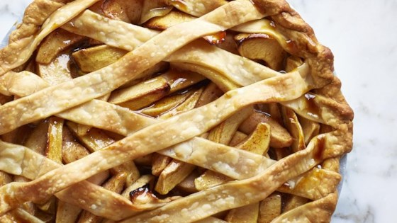Photo of Autumn Apple and Pear Lattice Pie by RuthE