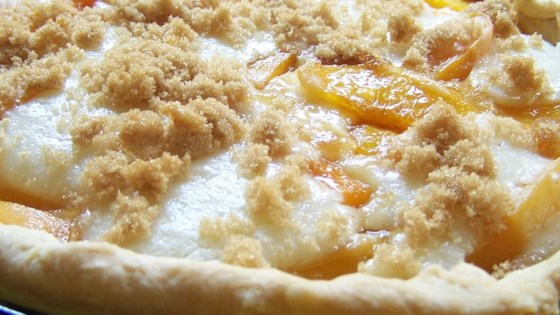 Photo of Sour Cream Peach Pie by LESLIE VAN SLACK
