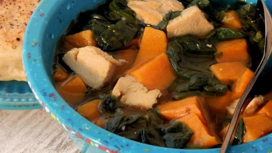 Chicken, Sweet Potato and Spinach Soup