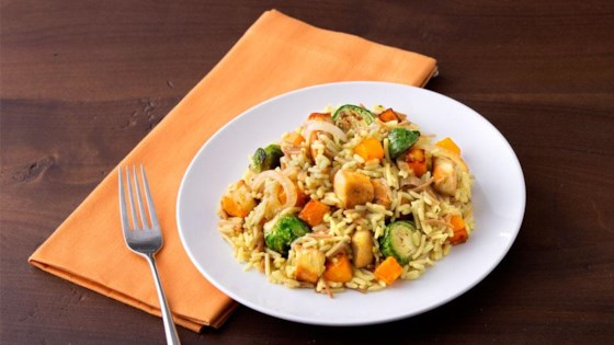 Photo of Chicken with Brussels Sprouts & Butternut Squash Skillet Dinner by Knorr®