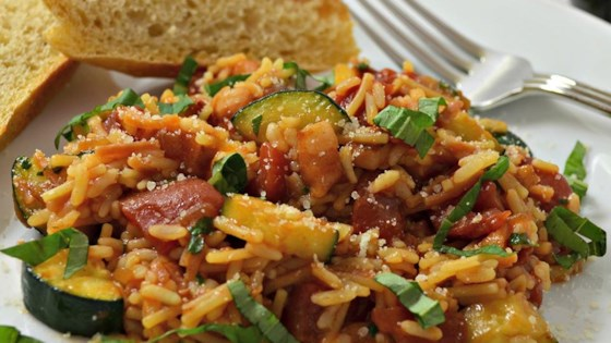 Photo of Harvest Tomato-Basil Rice with Pancetta by Kim's Cooking Now!