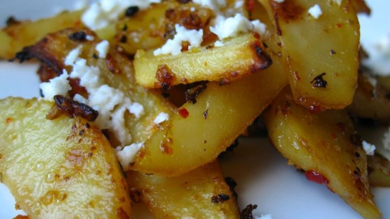 Herbed Greek Roasted Potatoes with Feta Cheese Recipe