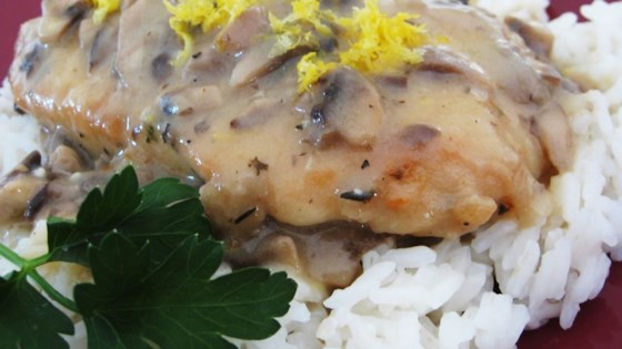 Photo of Lemon Mushroom Herb Chicken by Valerie Serao