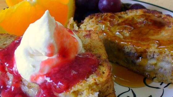 Photo of Karen's Baked Banana Stuffed French Toast by KAREN325