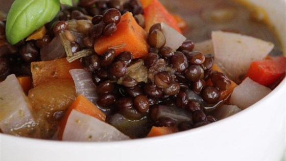 Black Lentil Veggie Soup Recipe