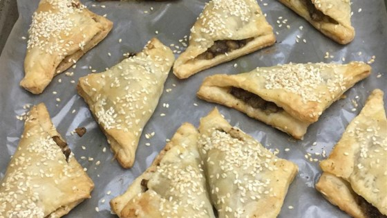 Brie and Mushroom Phyllo Puffs