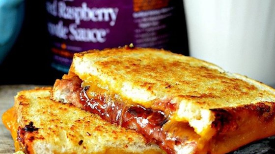 Roasted Raspberry Chipotle Grilled Cheese Sandwich on Sourdough