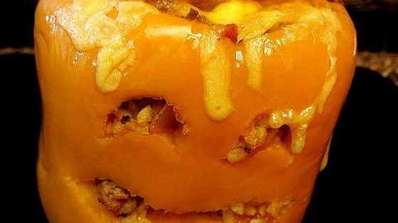 Photo of Stuffed Jack-O-Lantern Bell Peppers by stepperanddaniel