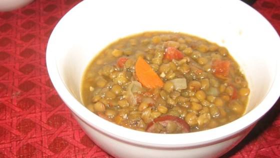 Photo of Kris' Lentil Sausage Soup by kris