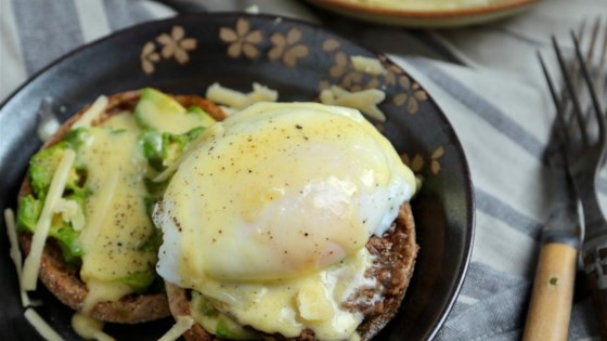 Sausage Avocado Benedict with White Cheddar Hollandaise