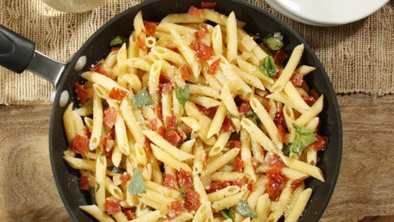 Photo of Kellie's Simple Penne with Pepperoni and Cheese by Barilla Canada