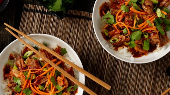 Photo of Slow Cooker Korean BBQ Pork Bowl by Hunt's