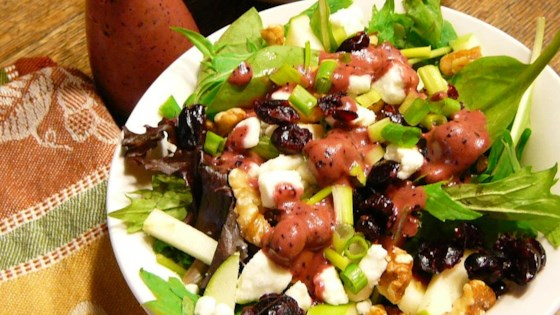 Photo of Green Apple Salad With Blueberries, Feta, And Walnuts by DezCez