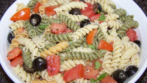 Photo of Easy Olive Oil, Tomato, and Basil Pasta by CookinGirl