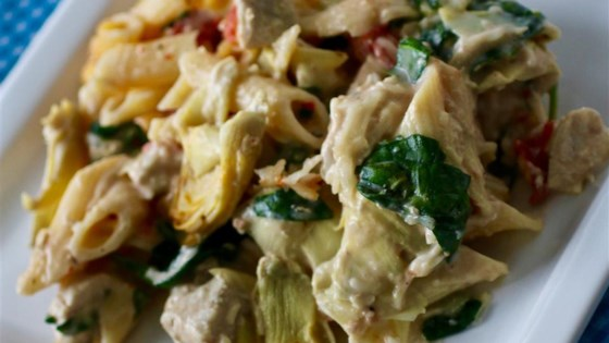 Photo of Kena's Chicken Spinach Artichoke Pasta by jabber71