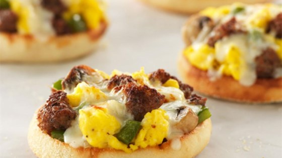 Photo of English Muffin Breakfast Pizzas by Pam Cooking Spray