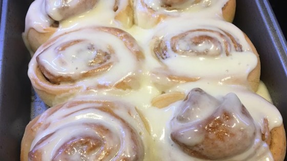 Soft, Moist and Gooey Cinnamon Buns Recipe - Allrecipes.com on crockpot cinnamon rolls, disney cinnamon rolls, lulus cinnamon rolls, pioneer cinnamon rolls, paula deen cinnamon rolls, texas size cinnamon rolls, sunbeam cinnamon rolls, viking cinnamon rolls, brioche cinnamon rolls, san antonio giant cinnamon rolls, super easy cinnamon rolls, barefoot contessa cinnamon rolls, ikea cinnamon rolls, tupperware cinnamon rolls, big cinnamon rolls, kirkland cinnamon rolls, largest cinnamon rolls, apple cinnamon rolls,
