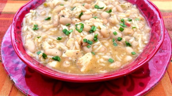 Photo of Chicken and White Cheddar Queso Chili by Bibi