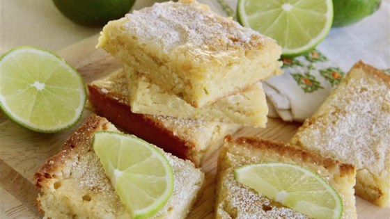 Photo of White Chocolate Lime Blondies by Allison S.F.