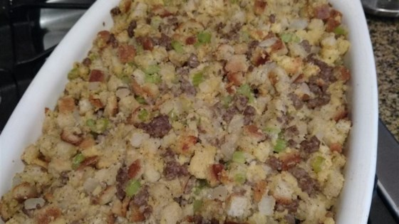 Photo of Best-Ever Cornbread-Sausage Stuffing by punkchic_123