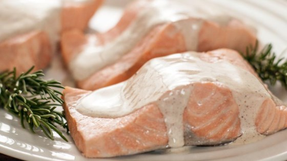 Photo of Rosemary Poached Salmon with Spiced Cream Sauce by Whole Foods Market®